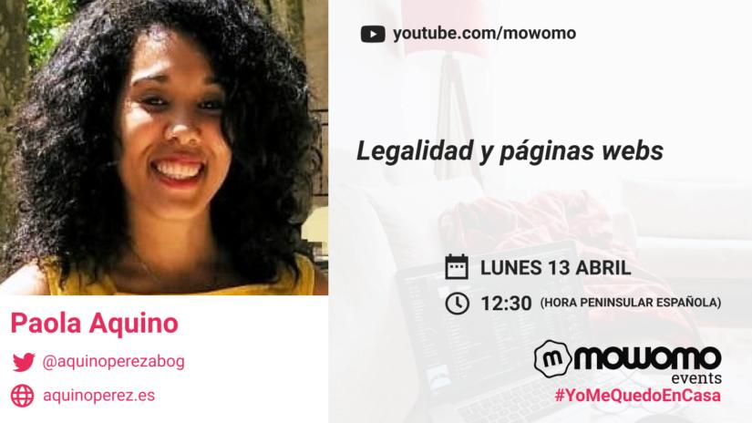 Paola Aquino en el mowomo camp #yomequedoencasa