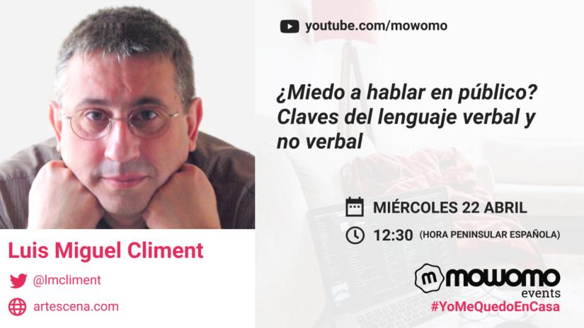 Luis Miguel Climent en el mowomo camp #yomequedoencasa