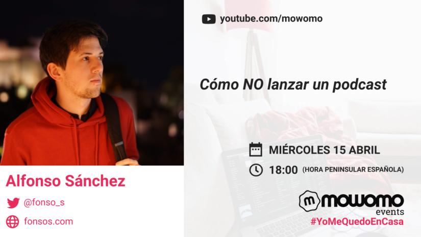 Alfonso Sánchez en el mowomo camp #yomequedoencasa