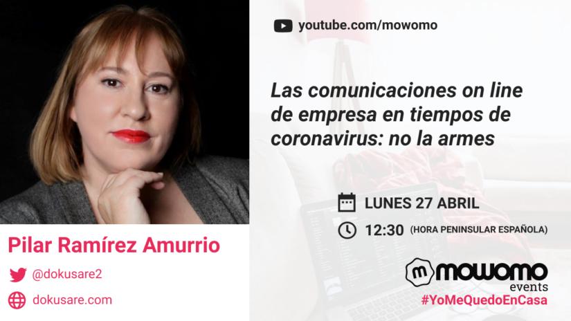 Pilar Amurrio en el mowomo camp #yomequedoencasa