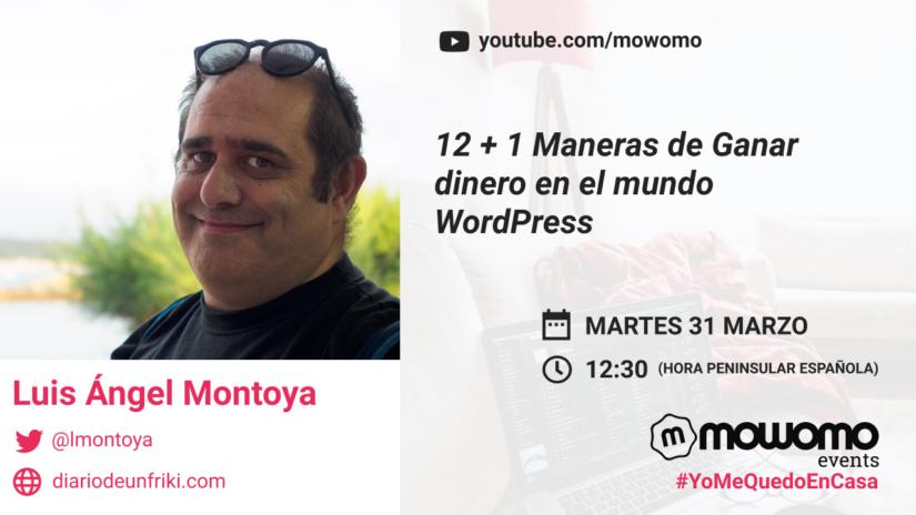 Luis Ángel Montoya en el mowomo camp #yomequedoencasa