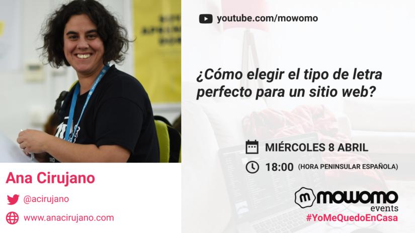 Ana Cirujano en el mowomocamp #yomequedoencasa