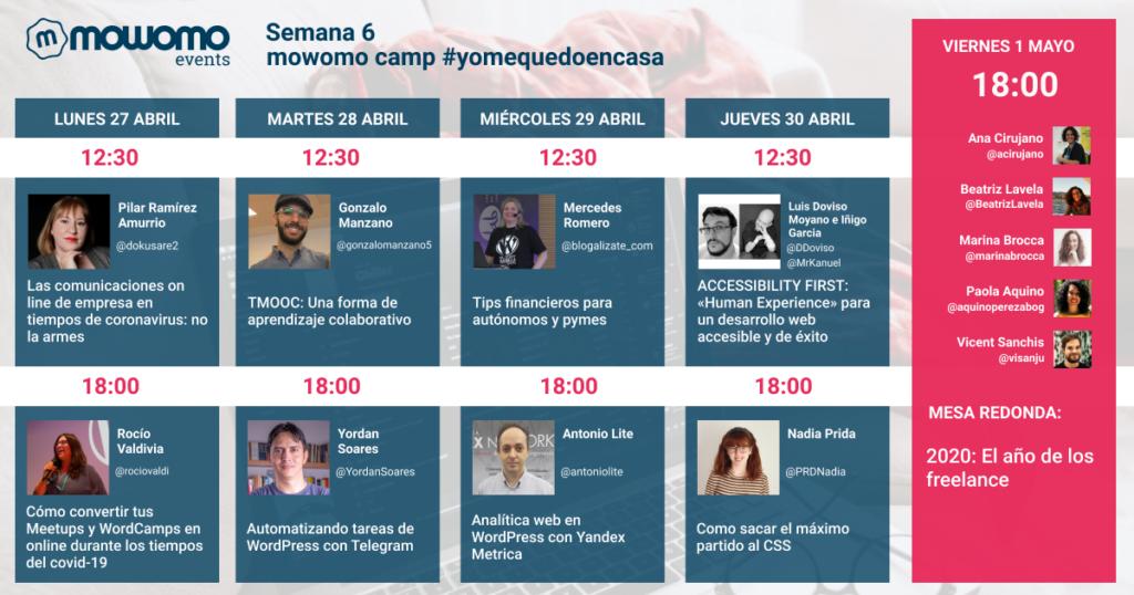 Semana 6 de mowocamp #yomequedoencasa